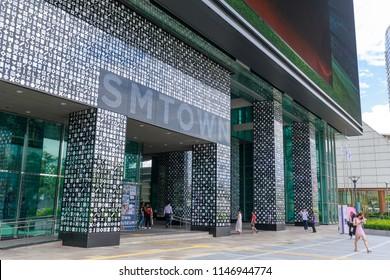 Seoul, South Korea - July 3, 2018 : SM TOWN at COEX Artium in Gangnam district, Seoul city