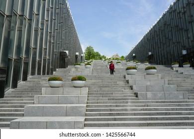 Seoul, South Korea - June 13, 2019: Ehwa womans university. Famous Hall of Ehwa university, largest female university in South Korea