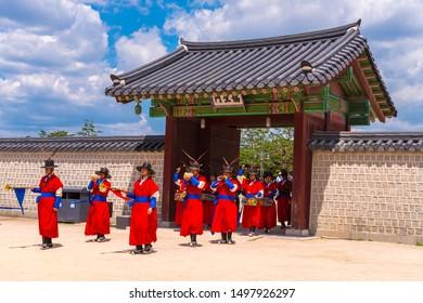 SEOUL, SOUTH KOREA - June 23, 2019 : Gyeongbokgung Palace in Seoul, South Korea.