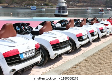 Seoul, South Korea - March 20: Audi RC car in Public space of Songdo Central park on March 20, 2016 in Seoul, South Korea