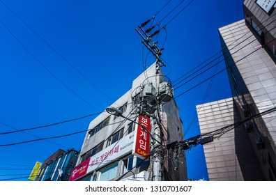 Seoul, South Korea - May 14, 2017: Hongdae is a neighborhood known for its youthful and romantic ambience, underground culture, and freedom of self-expression.