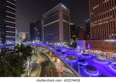 SEOUL, SOUTH KOREA - MAY 28: Seoul Station Seoullo 7017 Project  turn a highway into a pedestrian walkway Photo taken on May 28 2017in Seoul South Korea.