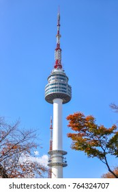 SEOUL, SOUTH KOREA - NOV 15, 2017 : Seoul Tower on Namsan mountain, Seoul, South Korea