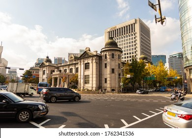 Seoul / South Korea - November 10, 2019:  The Bank of Korea Money Museum is housed in the former head office of the Bank of Korea.  The building is a remnant of the Japanese occupation of Korea and wa