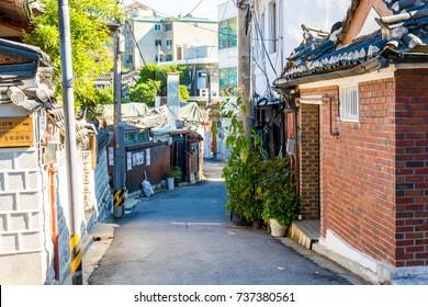 SEOUL, SOUTH KOREA, November 2nd 2016:Bukchon Hanok Village, traditional village in Seoul.