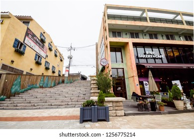 Seoul, South Korea - September 20, 2018 : The minimal style of shop  in the LA PROVENCE village