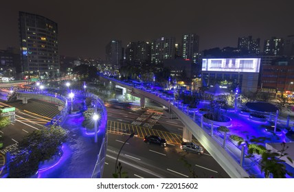 SEOUL, SOUTH KOREA - SEPTEMBER 24: Seoul Station Seoullo 7017 Project  turn a highway into a pedestrian walkway Photo taken on september 24, 2017in Seoul South Korea.