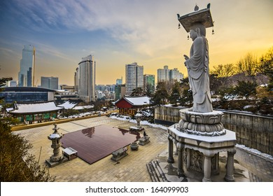 Seoul, South Korea skyline.