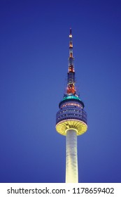 the Seoul Tower in the city of Seoul in South Korea in EastAasia.  Southkorea, Seoul, May, 2006