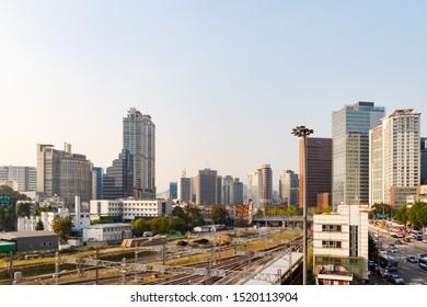 Seoul Train Station, Seoul, South Korea, September 30, 2019 - Scenery around Seoul Station City.