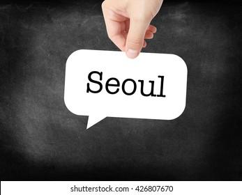 Seoul  written on a speechbubble