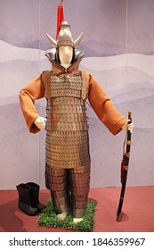 Seoul/Korea - May 2, 2012 : Armor of soldiers from the Baekje Period