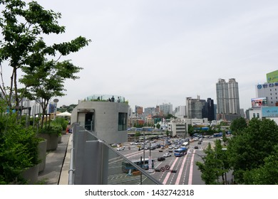 seoullo 7017 is a famous elevated lienar pathway park in seoul, south korea. Taken on June 8th 2019