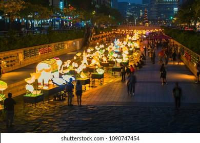 Seoul,South Korea - 14 May 2018 :Lantern Festival in Seoul,South Korea.