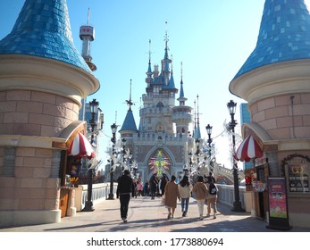 Seoul,South Korea - November 22,2019 : Lotte world amusement park