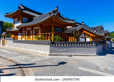 Seoul,South Korea-May 6,2019:Eunpyeong hanok village best landmark Old village in Seoul,South Korea
