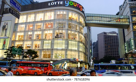 Seoul,South Korea-September 11,2013 : walking street section is shopping famous in Seoul