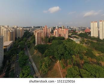 Sep 08/2019 Morning at  HDB Bukit Merah View look from Tiong Bahru Park, Singapore