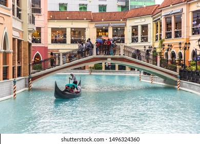 Sep 1, 2019 People riding gondola at the Venice grand canal mall, Manila, Philippines