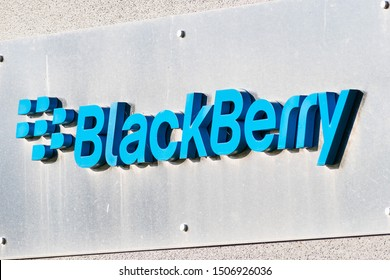 Sep 14, 2019 Mountain View / CA / USA - Blackberry logo at their HQ  in Silicon Valley; BlackBerry Ltd (former developer of the BlackBerry smartphones) specializes in enterprise software and IOT