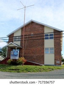 Sep. 18, 2017 - Clarenville Newfoundland Canada - Salvation Army Church located at 277 Marine Drive