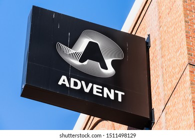 Sep 20, 2019 San Francisco / CA / USA - SS&C Advent, formerly known as Advent Software sign (subsidiary of  SS&C Technologies) at their HQ; SS&C Advent offers automate portfolio accounting solutions