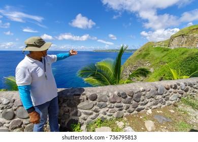 Sep 22, 2017 Tour guide intorduce Chawa View Deck at Batan Island, Batanes, Philippines
