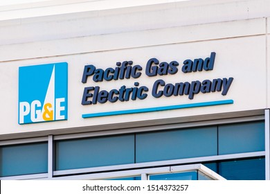 Sep 25, 2019 San Ramon / CA / USA - PG&E (Pacific Gas and Electric Company) sign at their headquarters in East San Francisco Bay Area