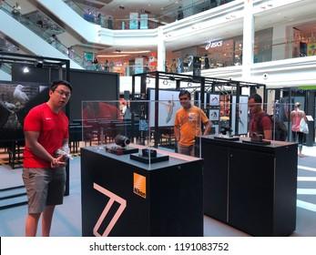 Sep 29/2018 People are visiting NIKON EXPERIENTIAL EVENT at Atrium Plaza Singapura during midday, Singapore