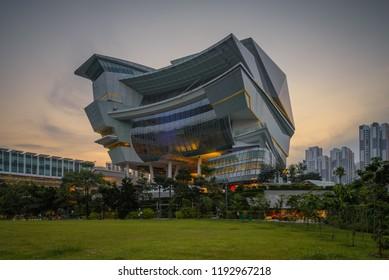 Sep 30/2018 Sunset at The Star Vista  near Bouna Vista Mrt station, Singapore