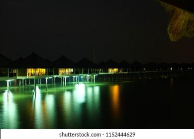 SEPANG, MALAYSIA - MARCH 18, 2016: Avani Sepang Goldcoast Resort features stunning over water villas.