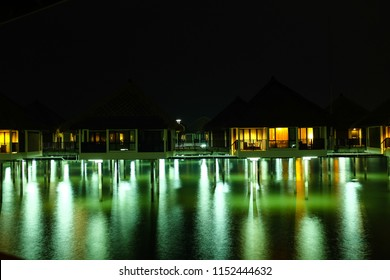 SEPANG, MALAYSIA - MARCH 18, 2016: Avani Sepang Goldcoast Resort features stunning over water villas.