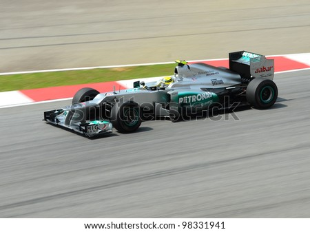eb105117535 SEPANG MALAYSIA MARCH 23 Mercedes Team Stock Photo (Edit Now ...