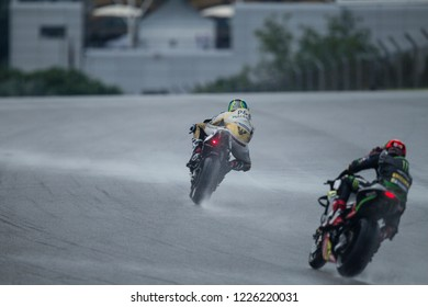 SEPANG, MALAYSIA - NOVEMBER 3, 2018: Czech Ducati rider Karel Abraham at SHELL MotoGP of Malaysia