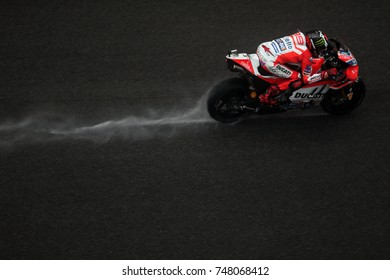 SEPANG - MALAYSIA, OCTOBER 29: Spanish Ducati rider Jorge Lorenzo at 2017 Shell MotoGP of Malaysia at Sepang circuit on October 29, 2017