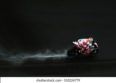 SEPANG - MALAYSIA, OCTOBER 30: Italian Ducati rider Danilo Petrucci at 2016 Shell MotoGP of Malaysia at Sepang circuit on October 30, 2016