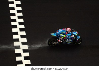 SEPANG - MALAYSIA, OCTOBER 30: Spanish Suzuki rider Maverick Vinales at 2016 Shell MotoGP of Malaysia at Sepang circuit on October 30, 2016