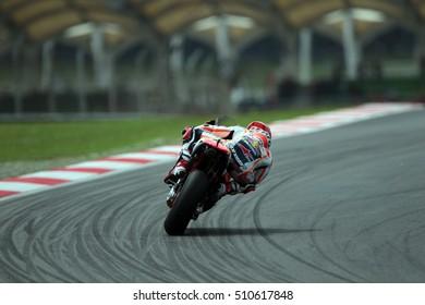 SEPANG - MALAYSIA, OCTOBER 30: Spanish Honda rider Marc Marquez at 2016 Shell MotoGP of Malaysia at Sepang circuit on October 30, 2016