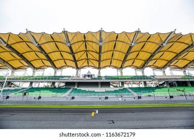 SEPANG, MALAYSIA -  SEPTEMBER 28, 2017 : Starting grid at Sepang International Circuit (SIC) Malaysia. Venue for the major motorsport events.