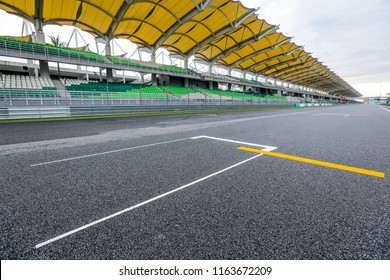 SEPANG, MALAYSIA -  SEPTEMBER 28, 2017 : Starting grid at Sepang International Circuit (SIC) Malaysia. Venue for the major motorsport events.