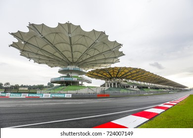 SEPANG, MALAYSIA -  SEPTEMBER 28, 2017 : Sepang International Circuit (SIC) Malaysia. Venue for the Formula One (F1) Malaysian Grand Prix, Motorcycle Grand Prix MotoGP & other major motorsport events.