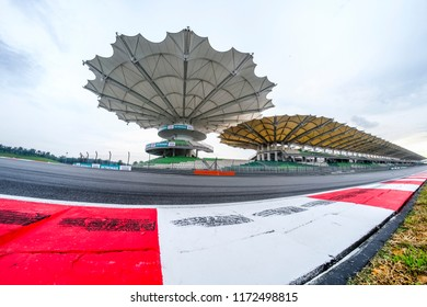 SEPANG, MALAYSIA -  SEPTEMBER 29, 2017 : Race track of Sepang International Circuit (SIC) Malaysia. Venue for the major motorsport events.