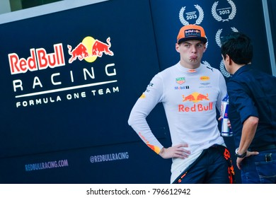 SEPANG, MALAYSIA - SEPTEMBER 30, 2017 : Max Verstappen of the Netherlands and Red Bull Racing during the Malaysia Formula One (F1) Grand Prix at Sepang International Circuit.