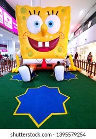Sepang, Malaysia-May 11, 2019: Spongebob replica in the Kuala Lumpur International Airport 2.