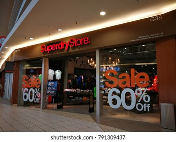 Sepang, Selangor - January 9, 2018: Famous Superdry Store on sale at Mitsui Outlet Park, near Kuala Lumpur International Airport (KLIA).