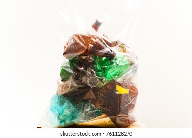 separate collection of waste for processing.package with plastic bottles