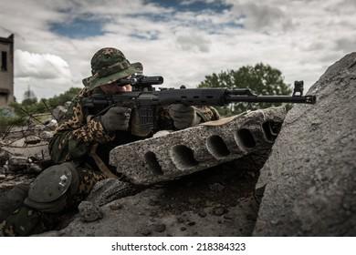 Separatist sniper on battle field