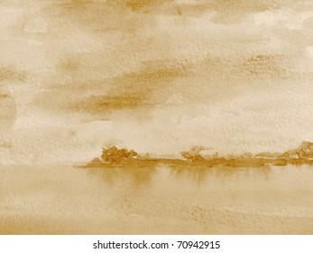 Sepia Watercolor 1