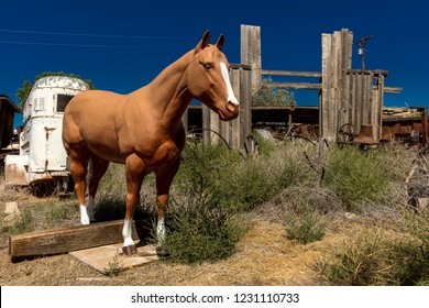 SEPT 14, 2018 - Lifelike horse standing in Cortez, Colorado, USA