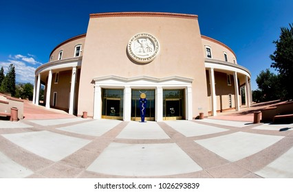 Sept. 2015 - Santa Fe, New Mexico. State Capital Building of New Mexico in Santa Fe.